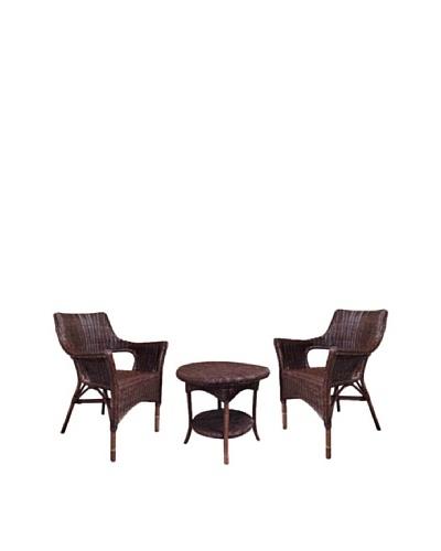 Rattan Living 3-Piece Indoor/Outdoor Furniture Set, Natural