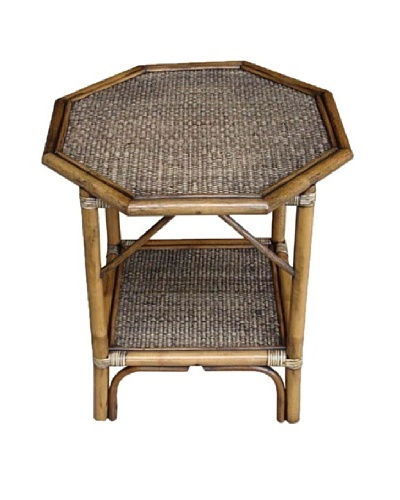 Rattan Living Octagonal Accent Table, Natural