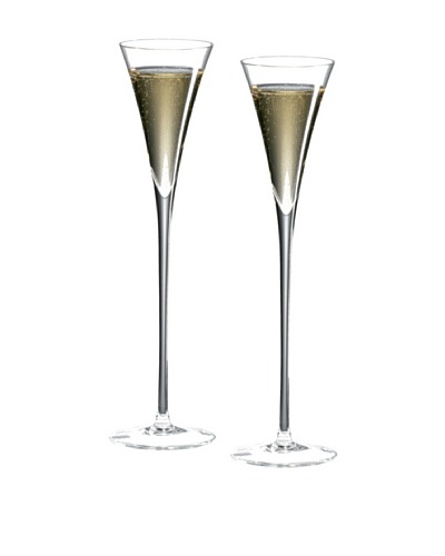 Ravenscroft Set of 2 Crystal 6-Oz. Long Stem Champagne Flutes