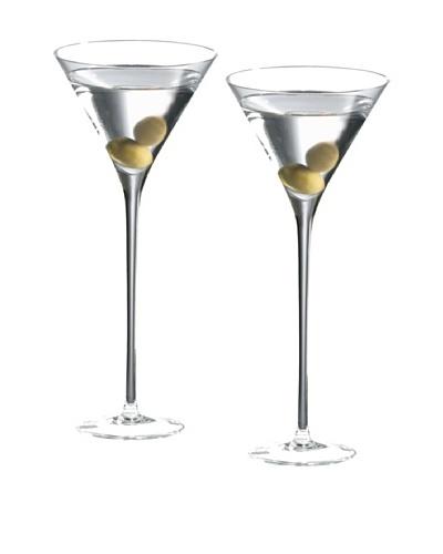 Ravenscroft Set of 2 Crystal 10-Oz. Long Stem Martini Glasses