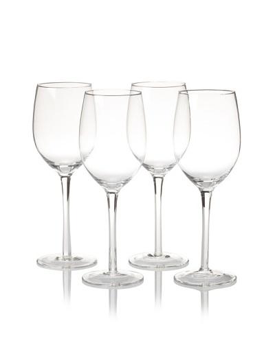 R. Croft by Ravenscroft Crystal Set of 4 Chardonnay Glasses, Clear, 14-Oz.