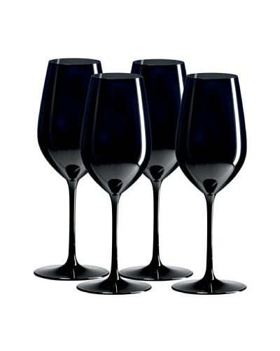 Ravenscroft Crystal Set of 4 Tall Crystal Double-Blind Tasting Glasses, Black, 12-Oz.