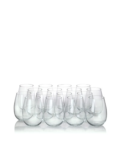 Ravenscroft Crystal 16-Piece Stemless Red Wine Glass Party Pack, 17-Oz.