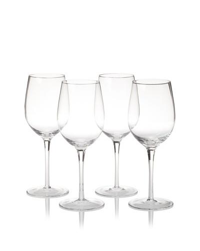 R. Croft by Ravenscroft Crystal Set of 4 Petite Chardonnay Glasses, Clear, 12-Oz.