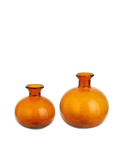 RAZ Set of 2 Amber Vases