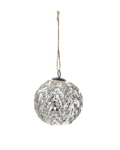 RAZ Antiqued Acanthus Ornament, Silver