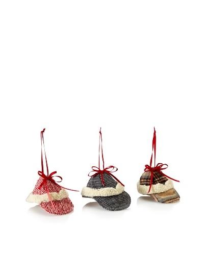 RAZ Set of 3 Assorted Hat Ornaments
