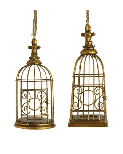 RAZ Set of 2 Birdcage Ornaments