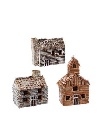 RAZ Set of 3 Assorted Cabin Ornaments