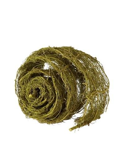 RAZ 6' Glittered Moss Wire Garland