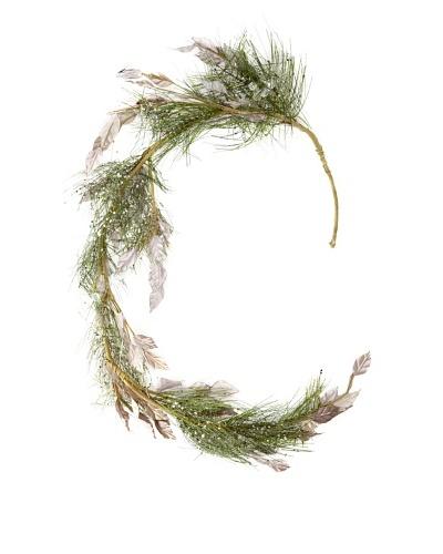 RAZ 4' Beaded Pine Garland