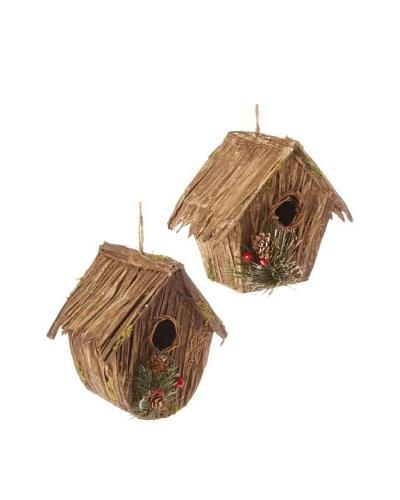 RAZ 6 Birdhouse Ornament assortment of 2 house