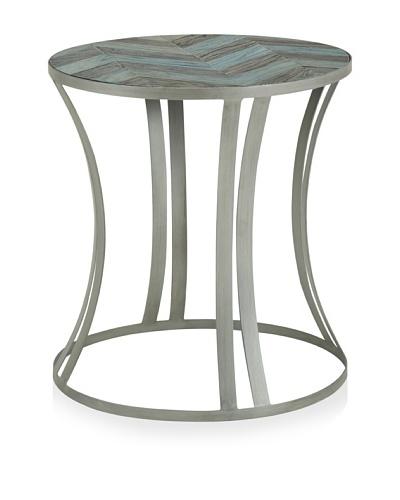 Morgan Side Table, Pale Ocean/Antique Elm