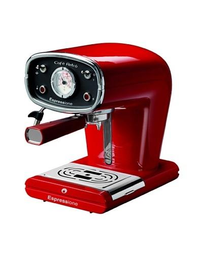 Espressione New Café Retro Espresso Machine, Red
