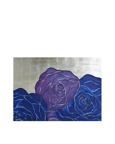 Red Label Cinithyia Reed Blue Purple Roses Oil Painting