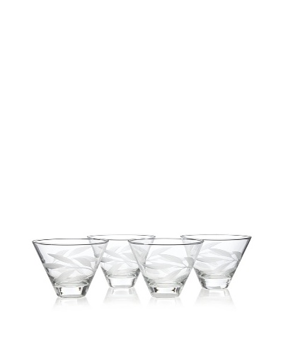 Reed & Barton Set of 4 Bamboo Garden Multi-Purpose Glasses, 12-Oz.