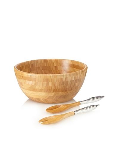 Reed & Barton Bamboo Garden Salad Bowl Set