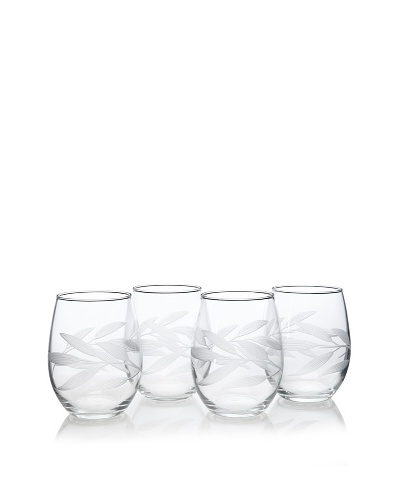 Reed & Barton Set of 4 Bamboo Garden Tumblers, 21-Oz.