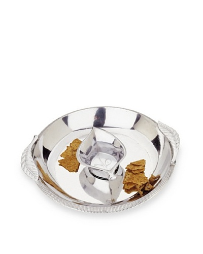 Reed & Barton Arbor Collection Chip & Dip Set, Silver