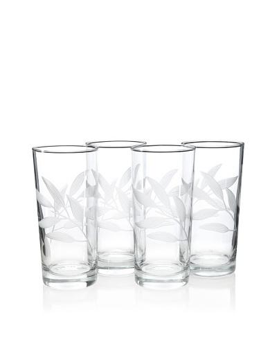 Reed & Barton Set of 4 Bamboo Garden Highball Glasses, 16-Oz.