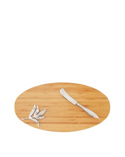Reed & Barton Bamboo Garden Cheese Board Set