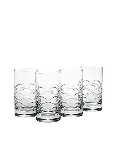 Reed & Barton Set of 4 Cove 13-Oz. Hi-Ball Glasses