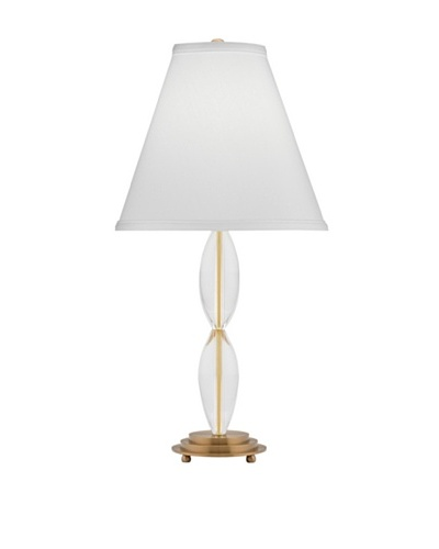 Remington Lamp Slender Curved Crystal Accent Lamp [Antique Brass]