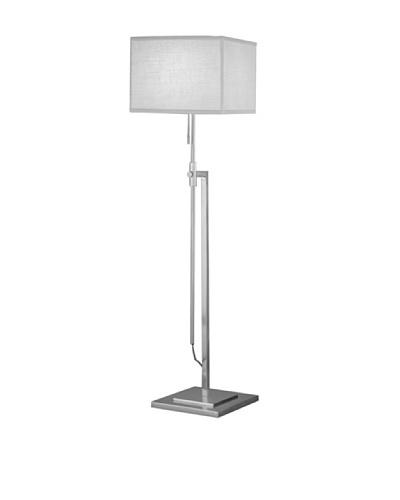 Remington Lamp Adjustable Floor Lamp, Satin Nickel