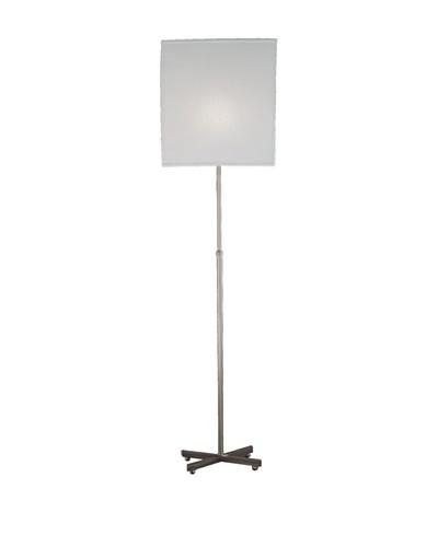 Remington Lamp X Adjustable Floor Lamp, Satin Nickel