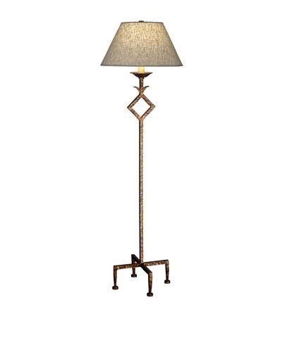 Remington Lamp Hammered Floor Lamp, Aged Gold