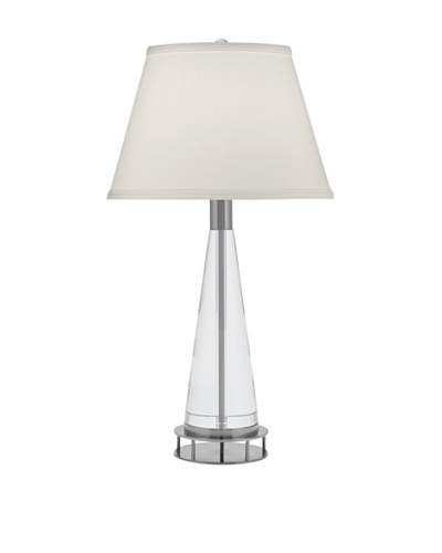 Remington Lamp Conical Solid Crystal Table Lamp [Satin Nickel]