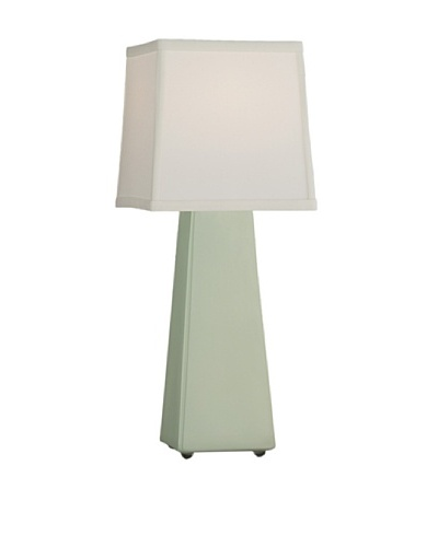 Remington Lamp Ceramic Obelisk Table Lamp, Sage