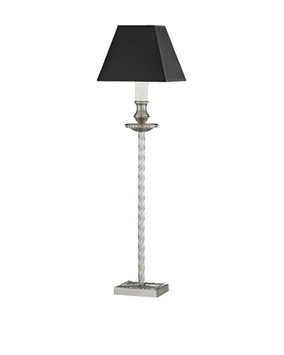 Remington Lamp Satin Nickel Ormolu Buffet Candlestick Lamp [Black]