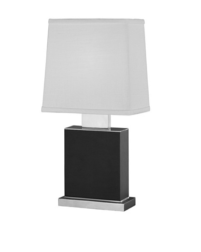 Remington Lamp Ebony & Satin Table Lamp