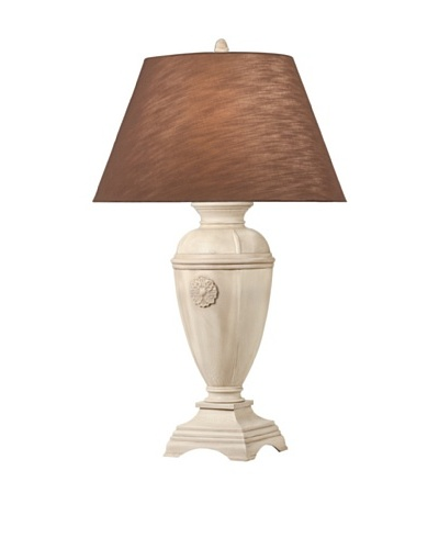 Remington Lamp Medallion Urn Table Lamp, Antique Ivory