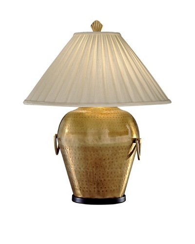 Remington Lamp Hammered Table Lamp, Antique Brass