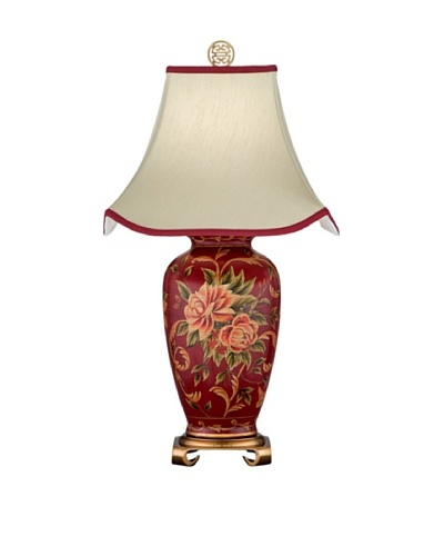 Remington Lamp Porcelain Vase Table Lamp