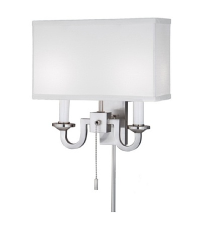 Remington Lamp Two Light Wall Sconce, Satin Nickel