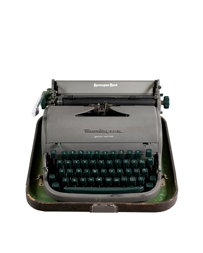Remington Vintage Typewriter, Grey/Green