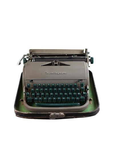 Remington Vintage Typewriter, Grey/Green