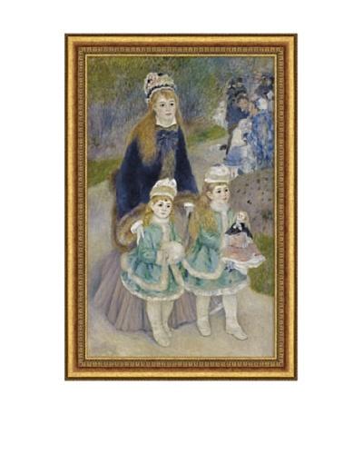 Pierre-Auguste Renoir Mother and Children (La Promenade), 1874-1876 Framed Canvas, 32 x 20