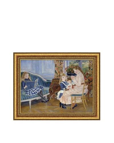 Pierre-Auguste Renoir Children?s Afternoon at Wargemont, 1884 Framed Canvas, 16 x 22