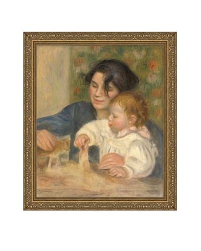Pierre-Auguste Renoir Gabrielle et Jean, 1895-1896 Framed Canvas, 21 x 17.5