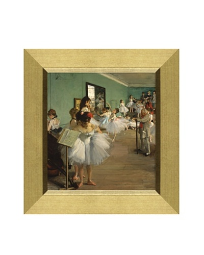 Edgar Degas The Dance Class, 1874 Framed Canvas, 15 x 13.75