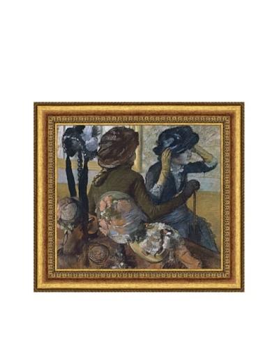 """Edgar Degas Dans la chapellerie, 1882 Framed Canvas, 14"""" x 16"""""""
