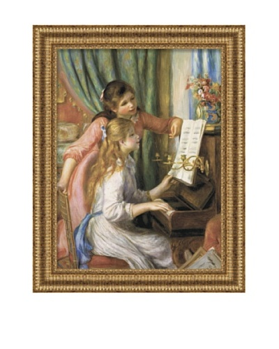Pierre-Auguste Renoir Two Young Girls at the Piano, Framed Canvas, 36 x 27