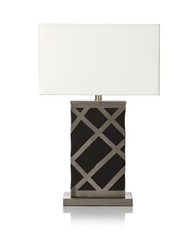 Ren-Wil Black Base Lamp, Silver/Black/White