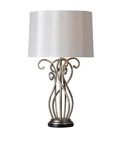 Vesey Table Lamp, Silver Leaf
