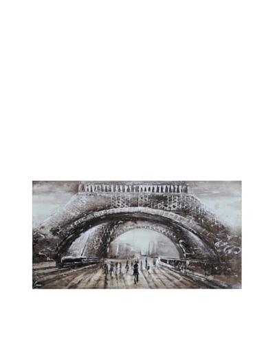 Paris Calling Hand-Painted Canvas