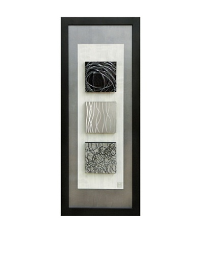 Reflections II 40 x 16 Framed Abstract